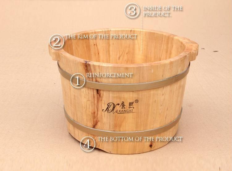 Children wooden foot tub cedar handmade wash basin good quality