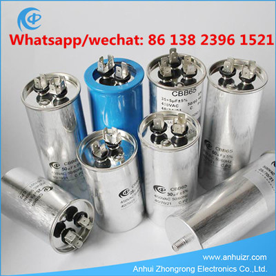 Aluminum Can AC Motor Run Capacitor 450VAC