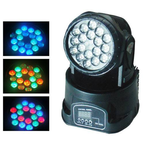 18pcs3w LED Moving Head Wash Light For stage light disco light nightclub light
