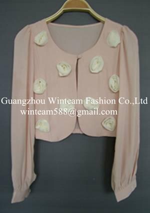 Tahari Jacket new fashion lady's flower blazer WT130120 China Manufacturer