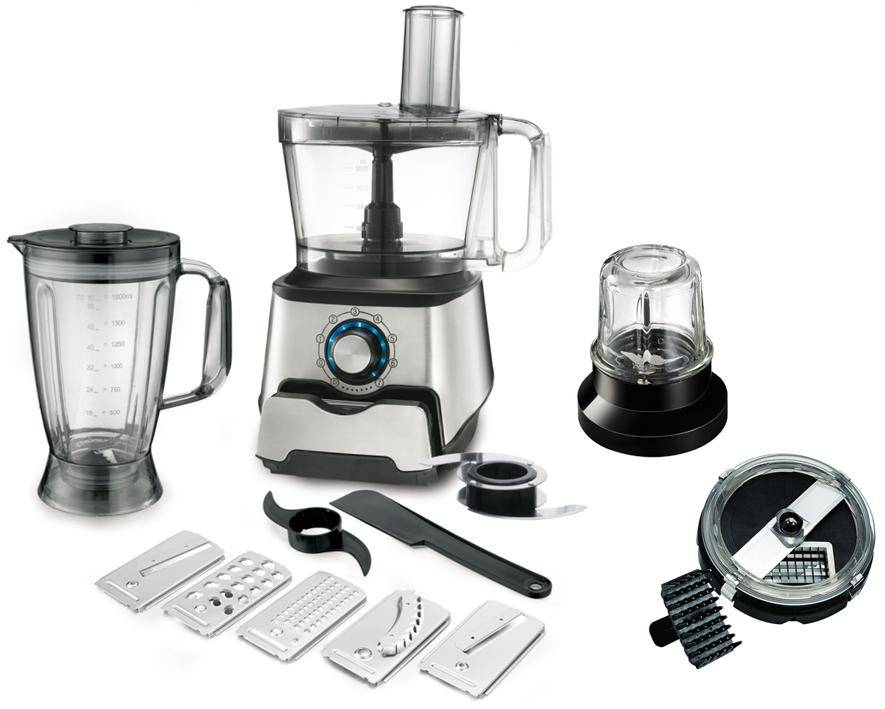 3.5 L Bowl Stainless Steel FP409 Food processor with Blade Discs and Blending Cup