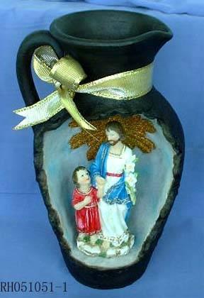 Polyresin religious decoration