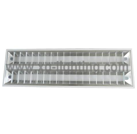 2x28w Recessed type T5 louver lighting fixture