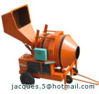 750L electric concrete mixer with hydraulic tipping hopper (26/17cft concrete mixer)