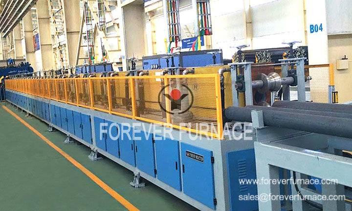Skew rolling steel ball production line
