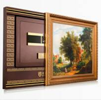 72KG factory patent design wall mounted fingerprint safe