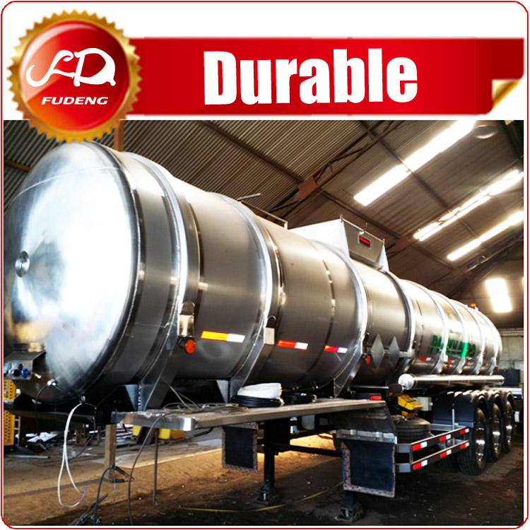 Fudeng brand Stainless steel water tank semi trailer widely used water tank truck for sale