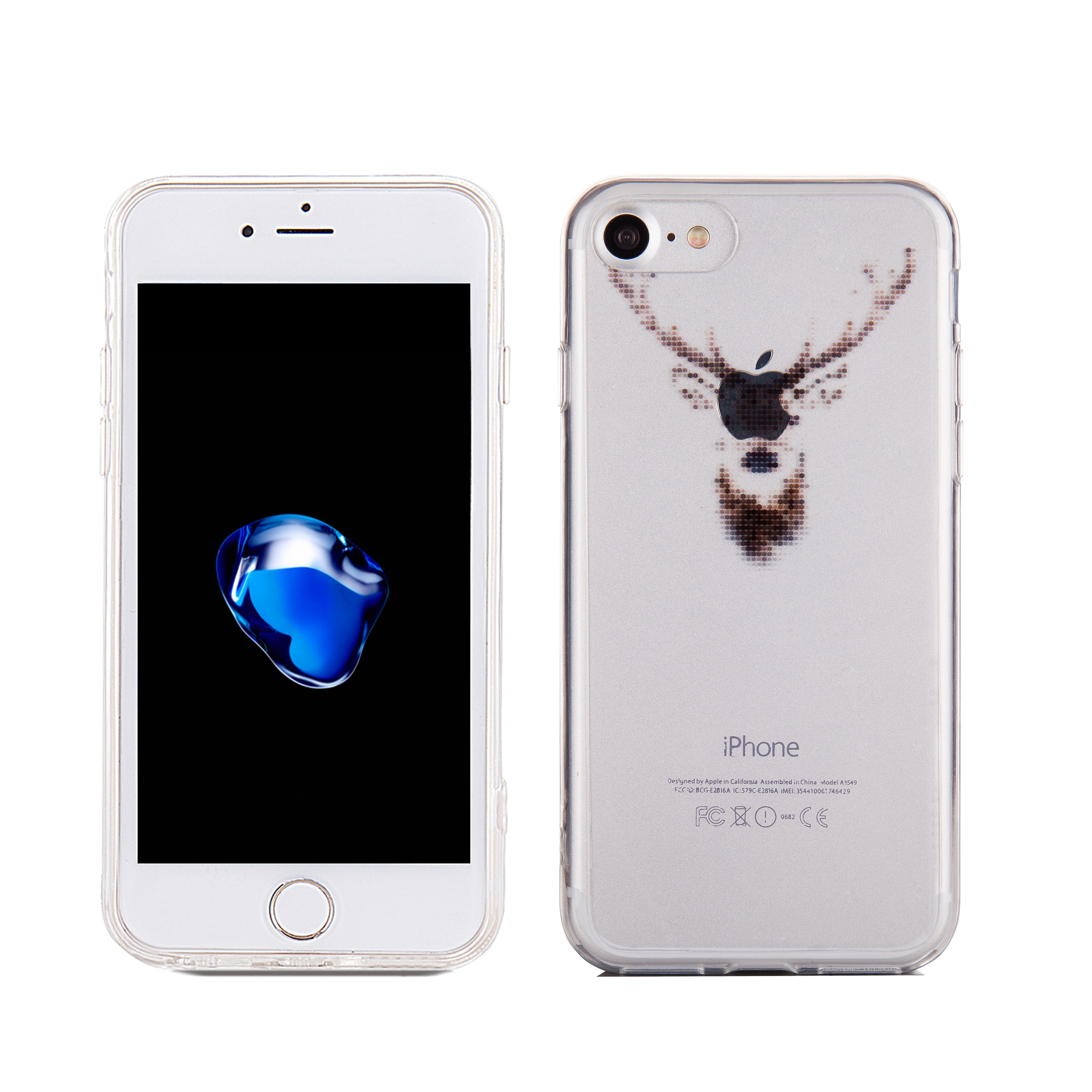 Applicable to Iphone 7 7plus ultra-thin deer soft TPU silicone rubber mobile phone shell for iphone