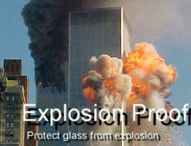 Explosion shield glass film