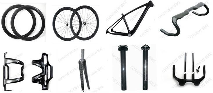 Carbon fiber bicycle parts carbon rim wheels carbon stem,carbon spacer,bar end,carbon bottle cage,he