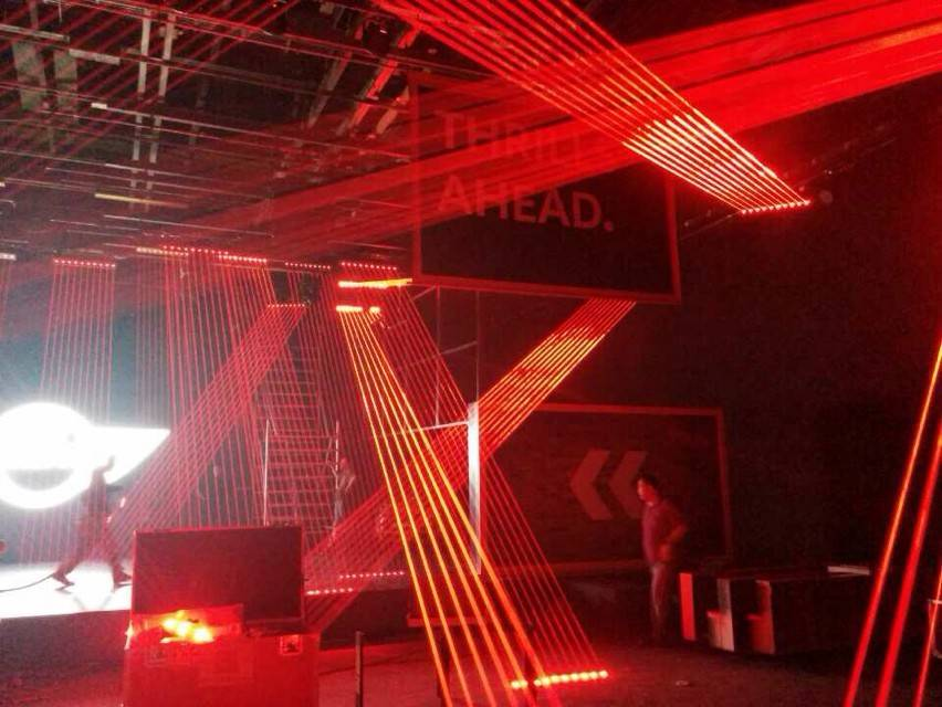 1600mW red head beam DJ laser show stage lighting