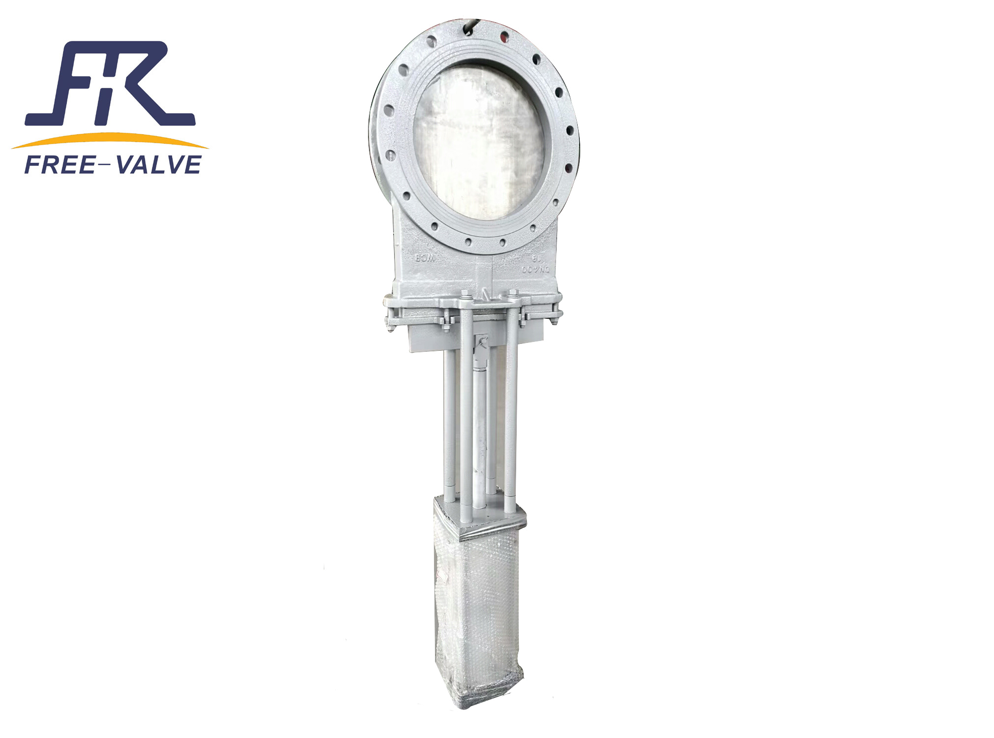 Pneumatic unidirectional knife gate valve