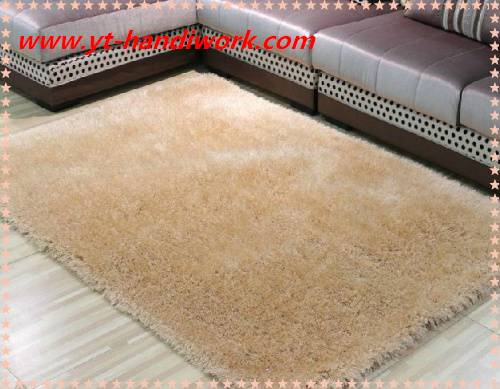 High quality 100%polyester shiny shaggy rugs for sale