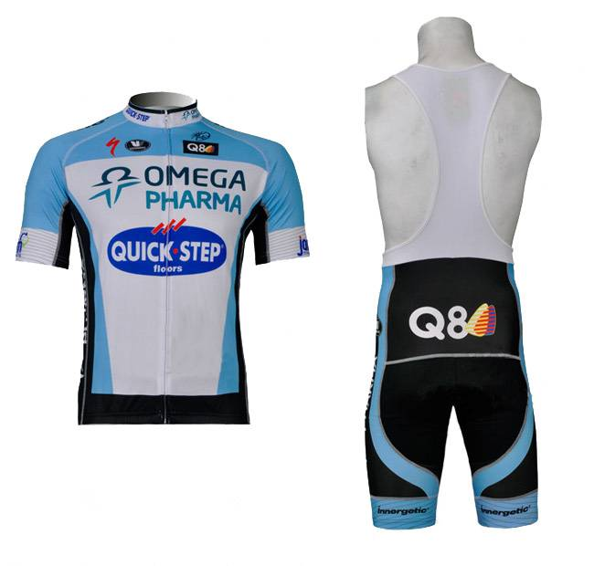 Quick step cycling jersey and bib short