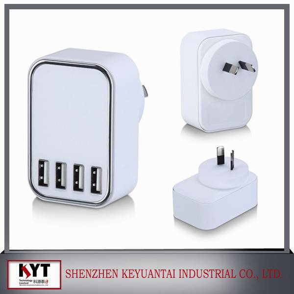 Hot selling multi USB wall charger 5V4.5A 5 port usb charger for mobile phone with CE FCC ROHS