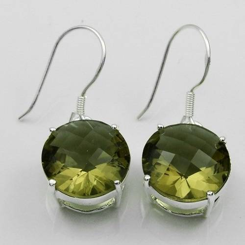 Silver costume jewelry 925 silver newest smoky quartz earring