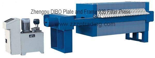 Filter press Zhengpu Plate And Frame 920 Filter Press