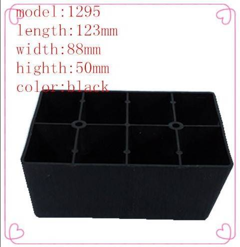 New model 1295 plastic sofa legs/rectangle furniture legs/mold design and development
