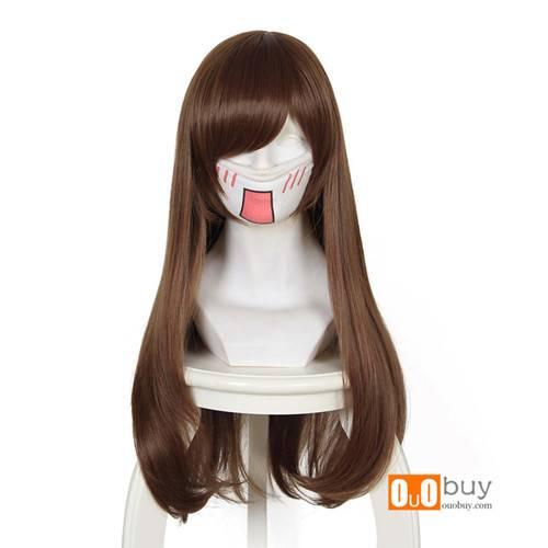 Selling Overwatch D.VA Red-Brown Long Cosplay Wig
