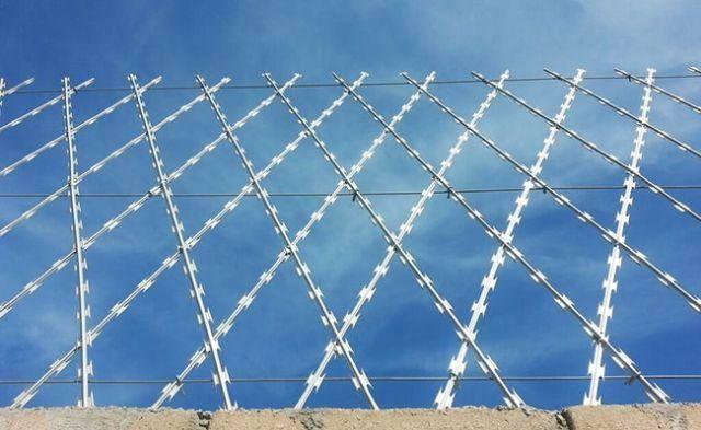 Welded razor wire fence | Razor mesh ----- WM Wire Industrial