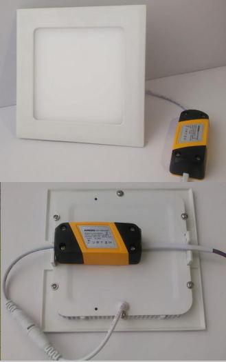 Ultra Slim Square Recessed LED Panel Light 3W-24W