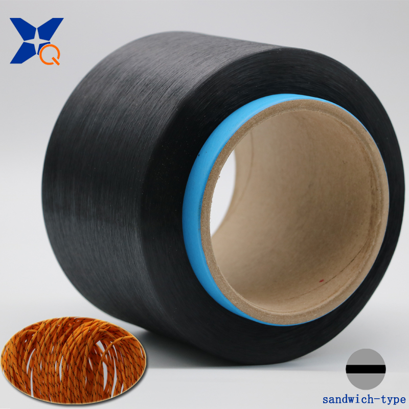 XTAA249 Carbon Inside Conductive PL Fiber Filaments 50d/8f Sandwich Type for Anti Static Harnes
