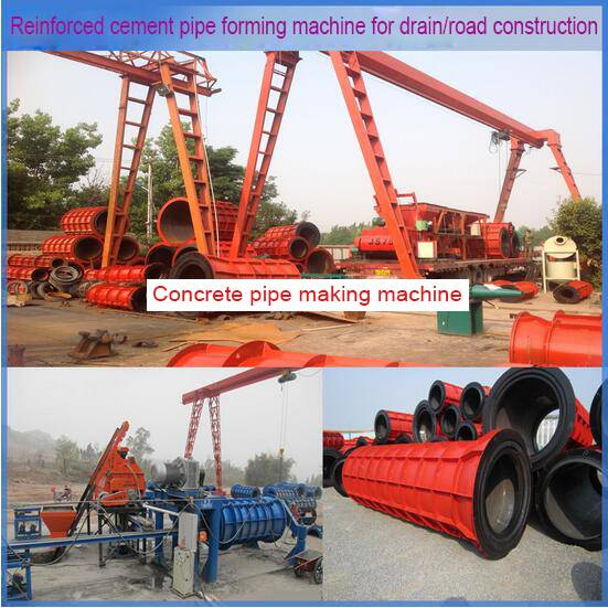 new type concrete pipe making machinery