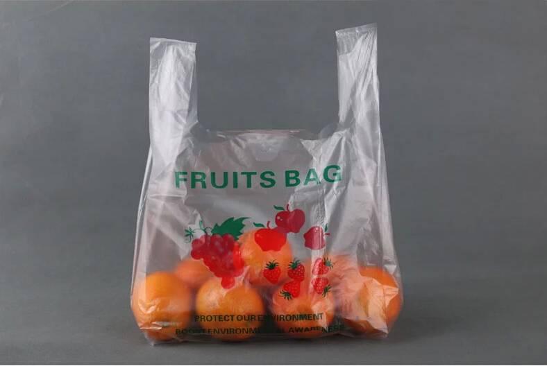 LDPE vest bag for shopping