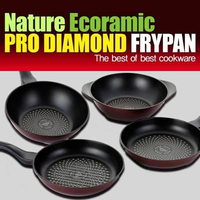 diamond coated frying pan