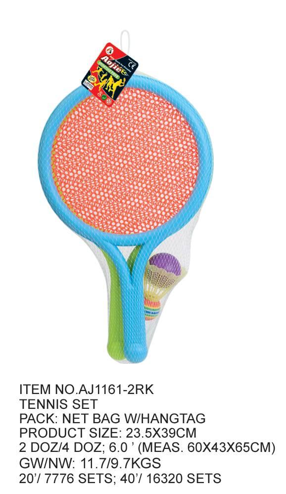 Plastic tennis set