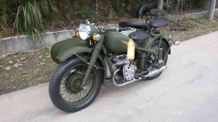 Personal customize bigger engines sidecar with army green color
