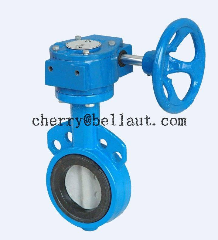 Manual-operated Flanged Concentric Butterfly Valve