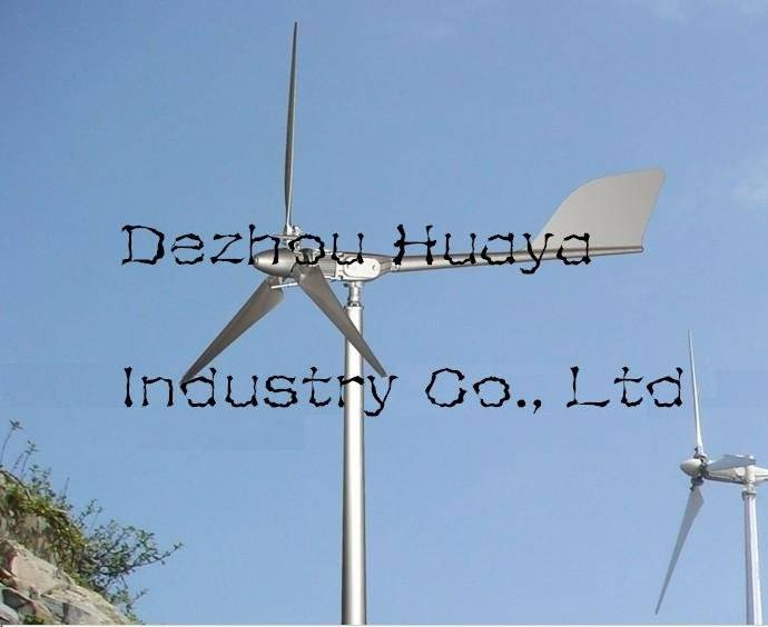Pitch controlled small wind turbine 5kw (ce-approved)