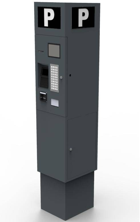 High quality pay on street parking pay station car parking meter