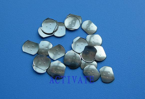 supply best stainless metal dome-cross/circle/triangle/oblong/other metal dome with legs/domples