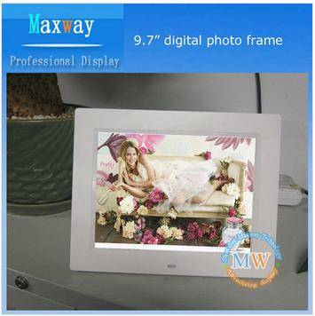 Support Multi-language 9.7 inch digital photo frame