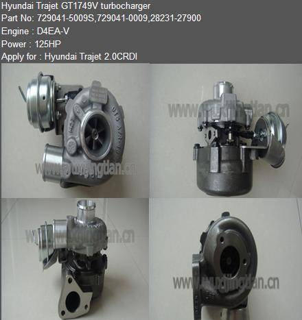 Turbocharger GT1749V Hyundai Trajet