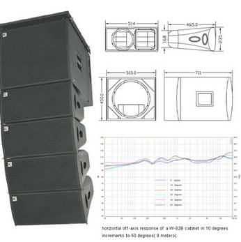 8woofer, a 1.75titanium line array system