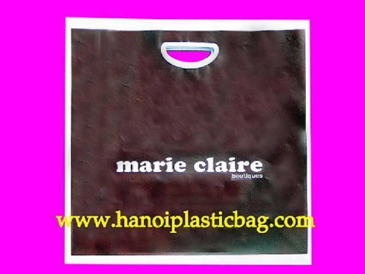 die cut plastic handle bag