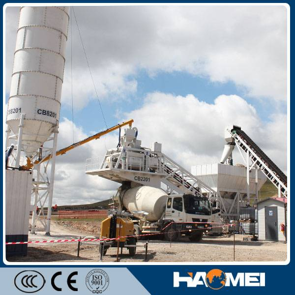 CE Certification mobile concrete plant YHZS50/60