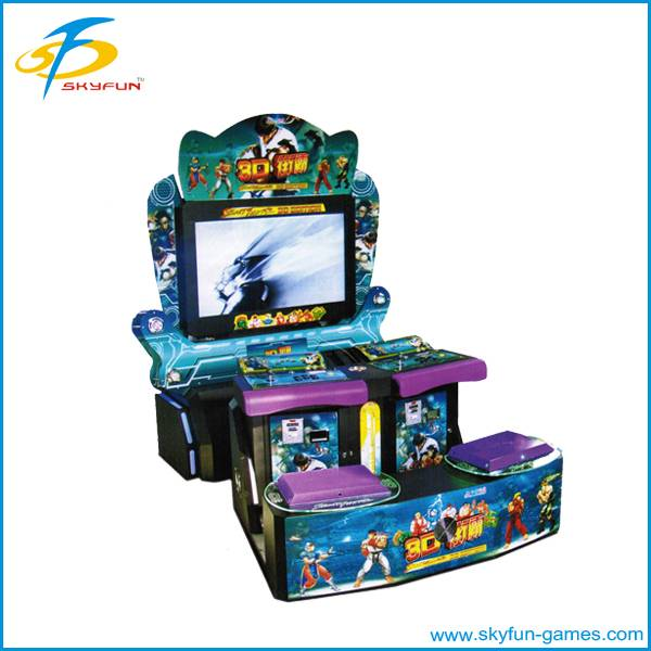 Amusement coin operated video cabinet fighting game machine