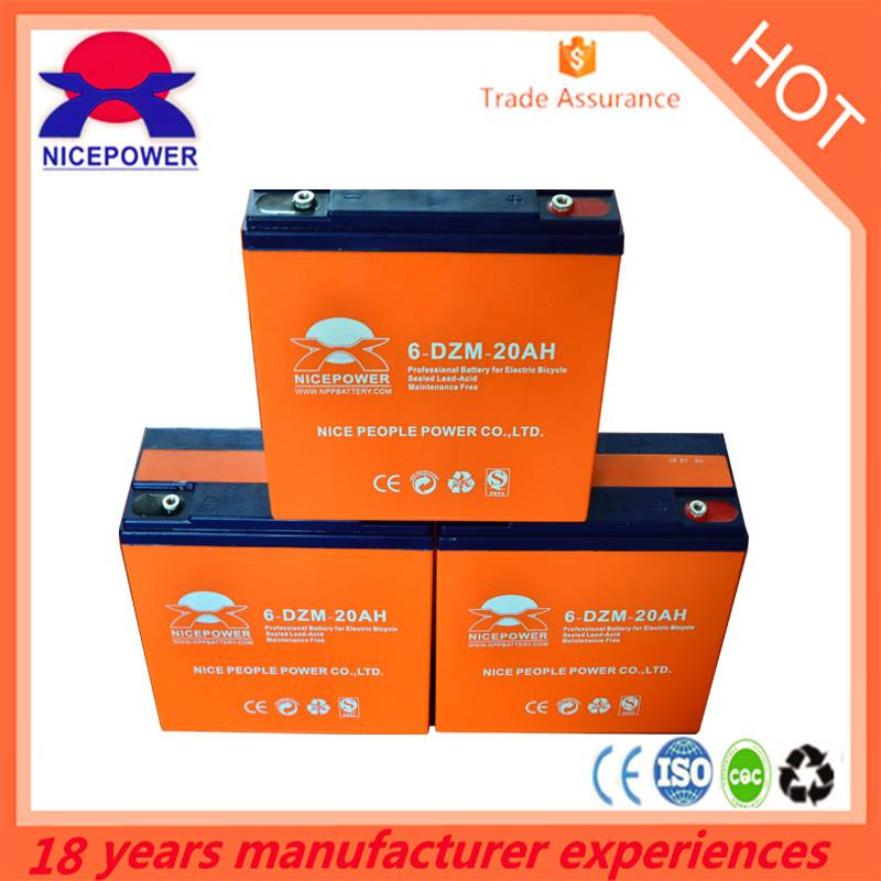 Nice People power 12v 12ah bicycle Lead acid battery in Guangzhou