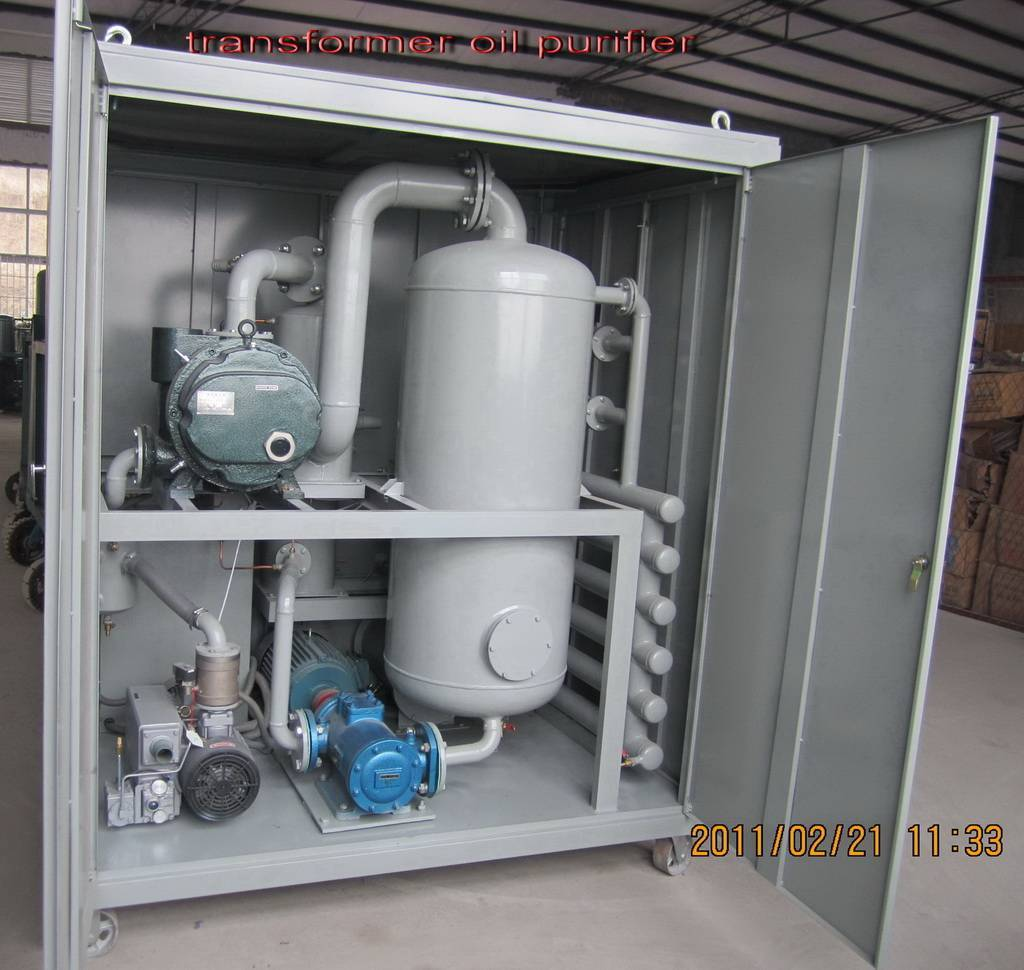 Double-stage vacuum transformer oil regeneration purifier / insulating oil recycling machine