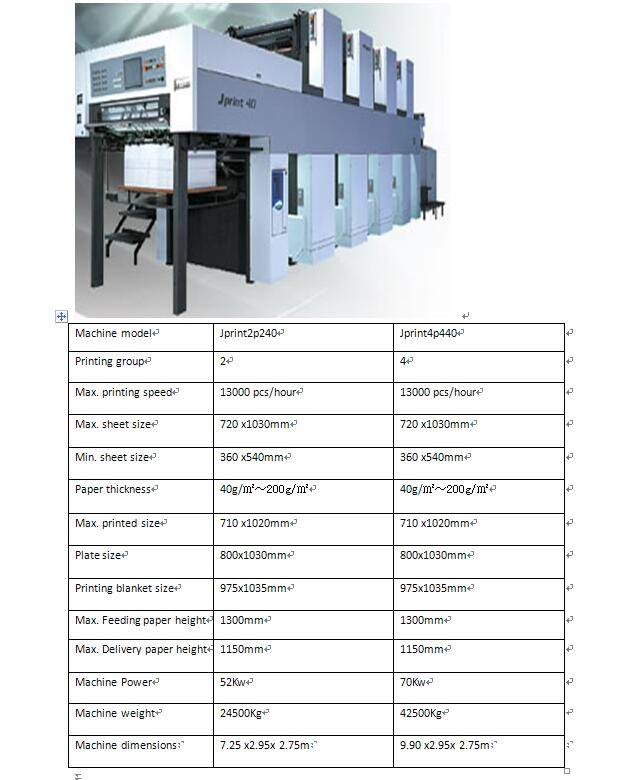 Double-side Offset Printing Machine Model: JP-40