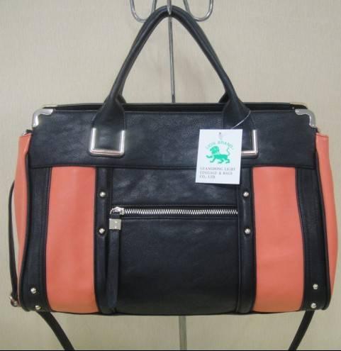 Black true leather bag