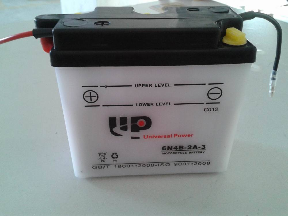 Dry Charged Vented Motorcycle Battery 6N4B-2A-3 6V 4AH