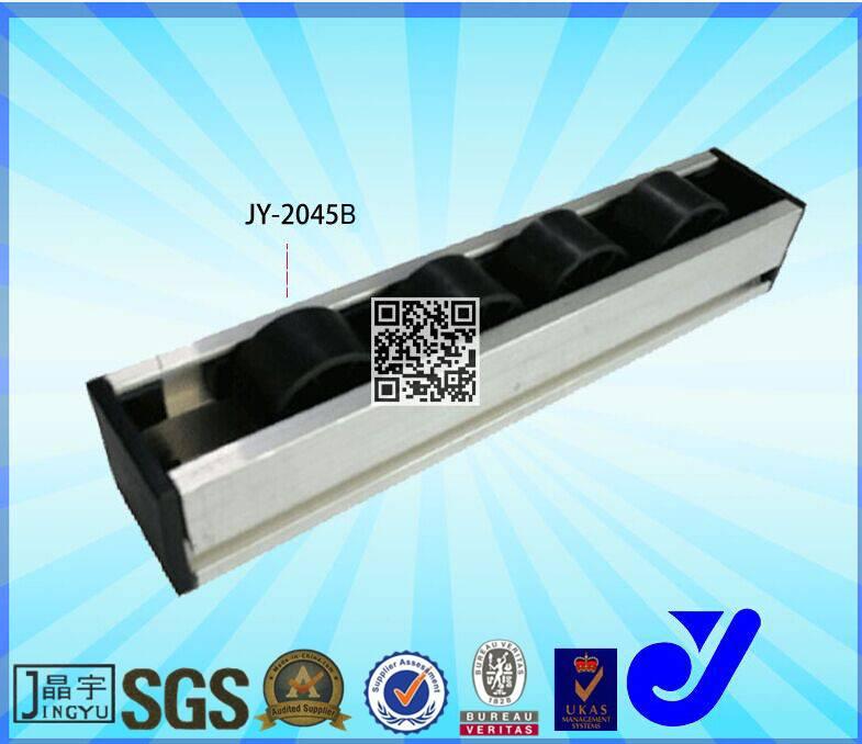 aluminum slide Roller Rail for roller rail,roller track conveyor,sliding doors roller railJY-2045B