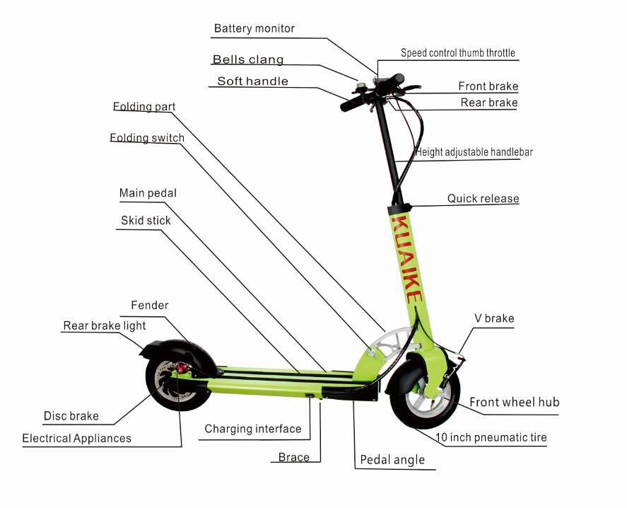 2015 HOT sales electric scooter foldable scooter