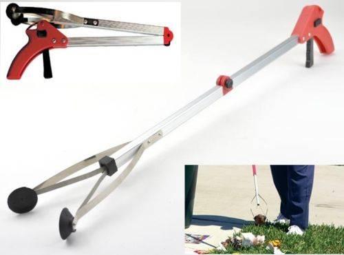 Folding aluminum pickup tools / reaching tools