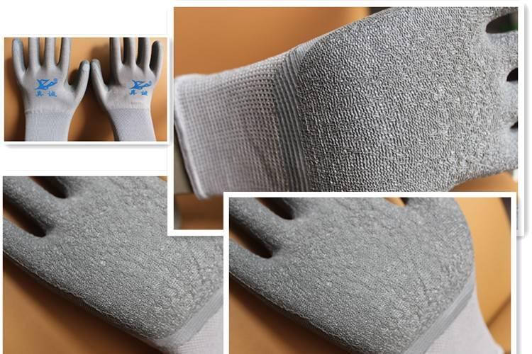 21Gauge Polyester cotten shell Latex coating Gloves